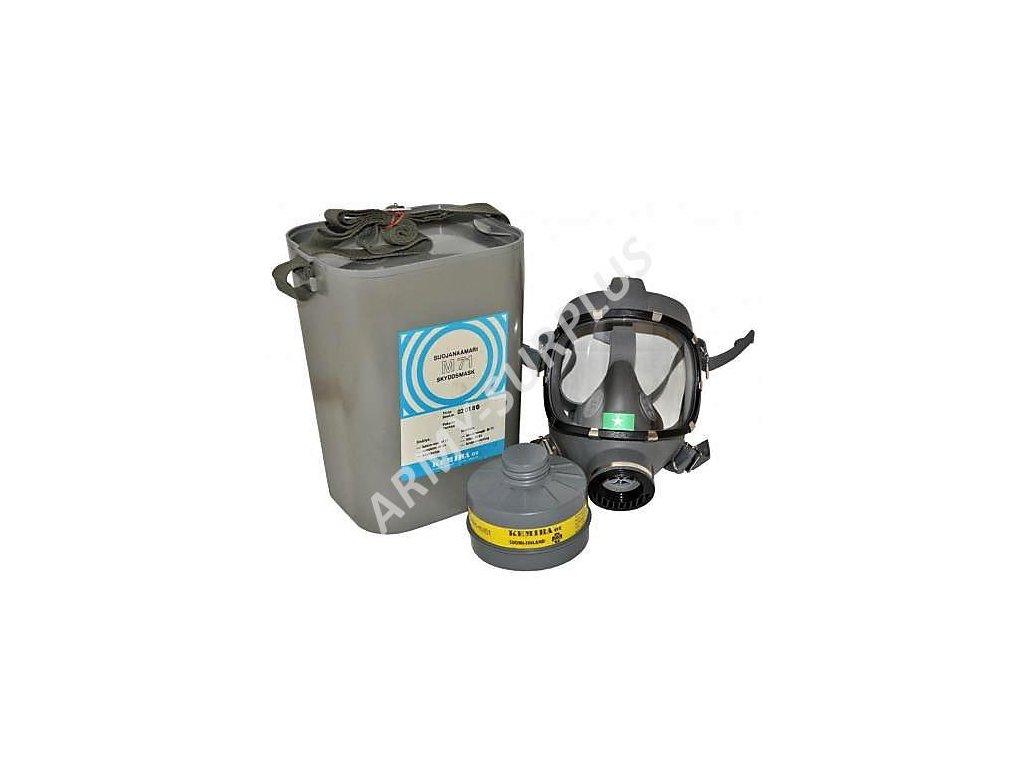 Plynová maska Kemira M71 Finsko s plastovým boxem a filtrem