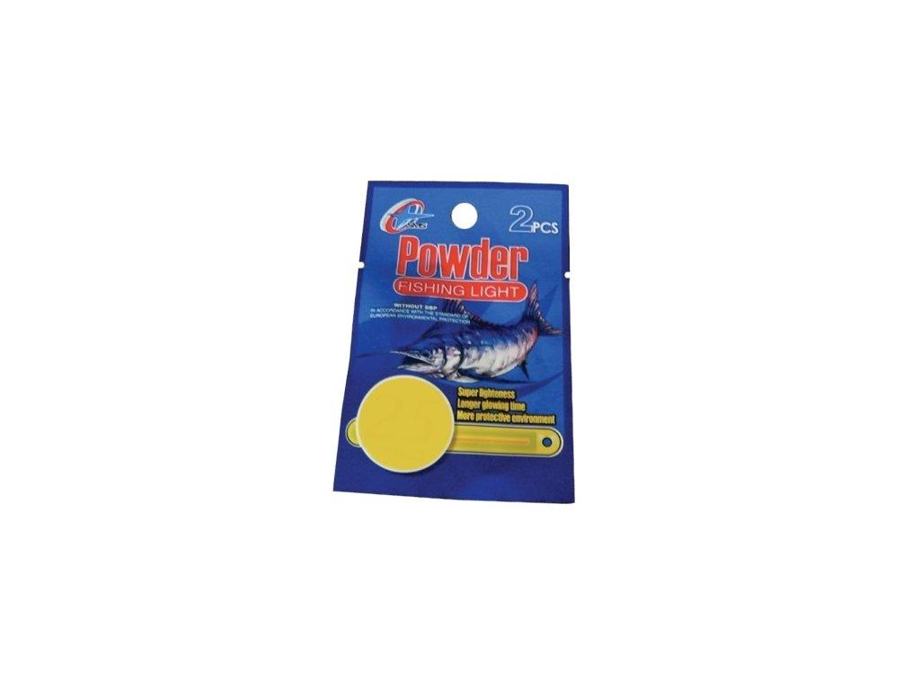 Chemické světlo rybářské sada 2 kusů zelená Powder fishing light 24h