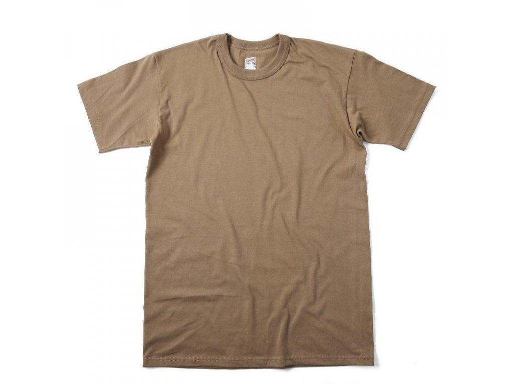 e9440e17f82 Triko US hnědé krátký rukáv Tan bavlněné originál US ARMY Soffe ...