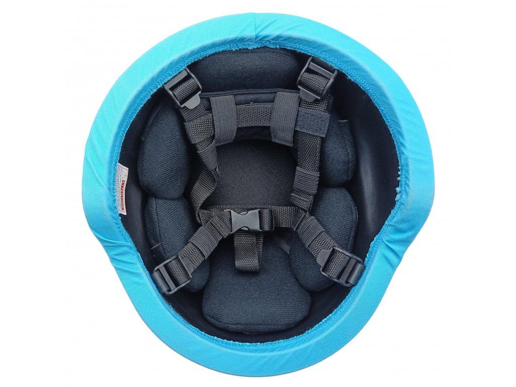 Potah (povlak) na kevlarovou helmu (přilbu) UNPROFOR OSN originál světle modrá