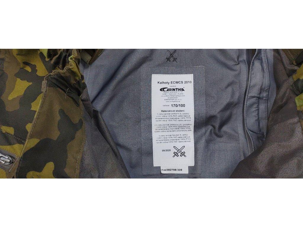 Kalhoty ECWCS 2010 Carinthia (převlekové nepromokavé) AČR vz.95 originál