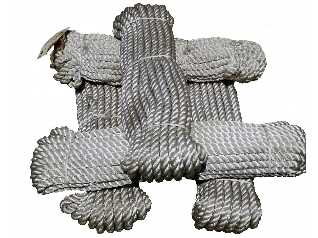 Lano pletené silonové vyvazovací 25m/15mm JUTA