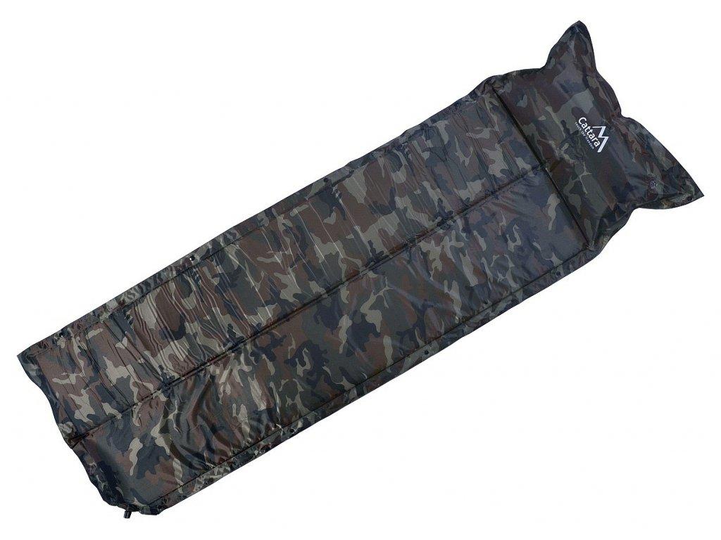 Karimatka samonafukovací s polštářem woodland NAVY 183 x 58 x 2,5cm