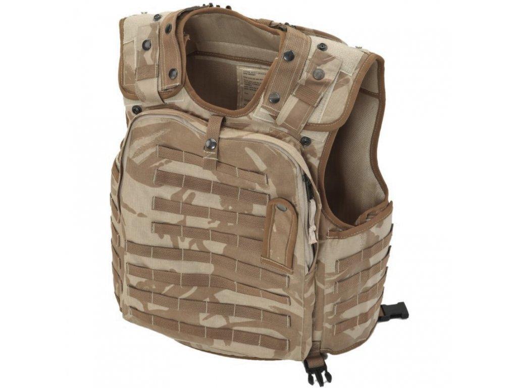 Taktická/neprůstřelná vesta (nosič plátů) OSPREY MK1 molle desert DPM Velká Británie