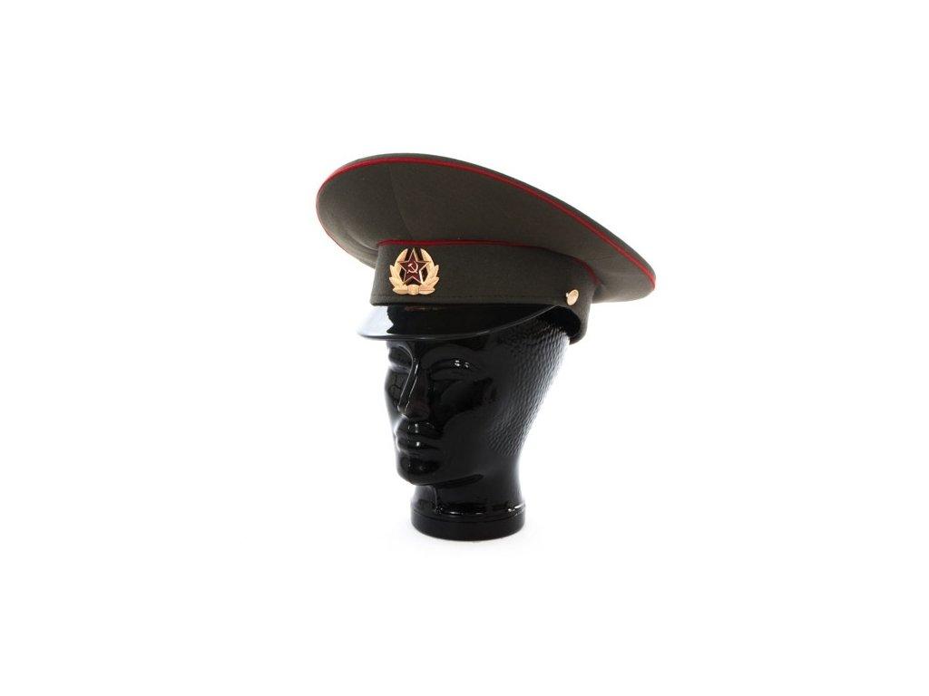 Brigadýrka zelená Rusko červené lemování originál