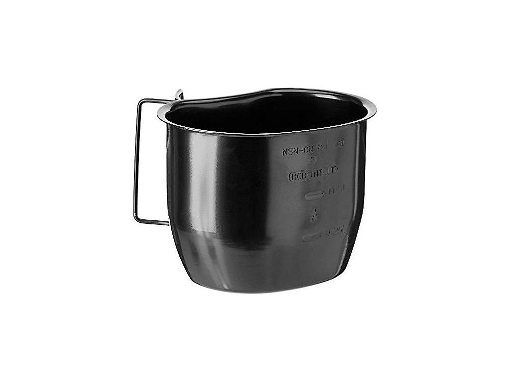 Hrnek (pitítko) černý nerez systému Crusader Cooking System Velká Británie 750ml BCB
