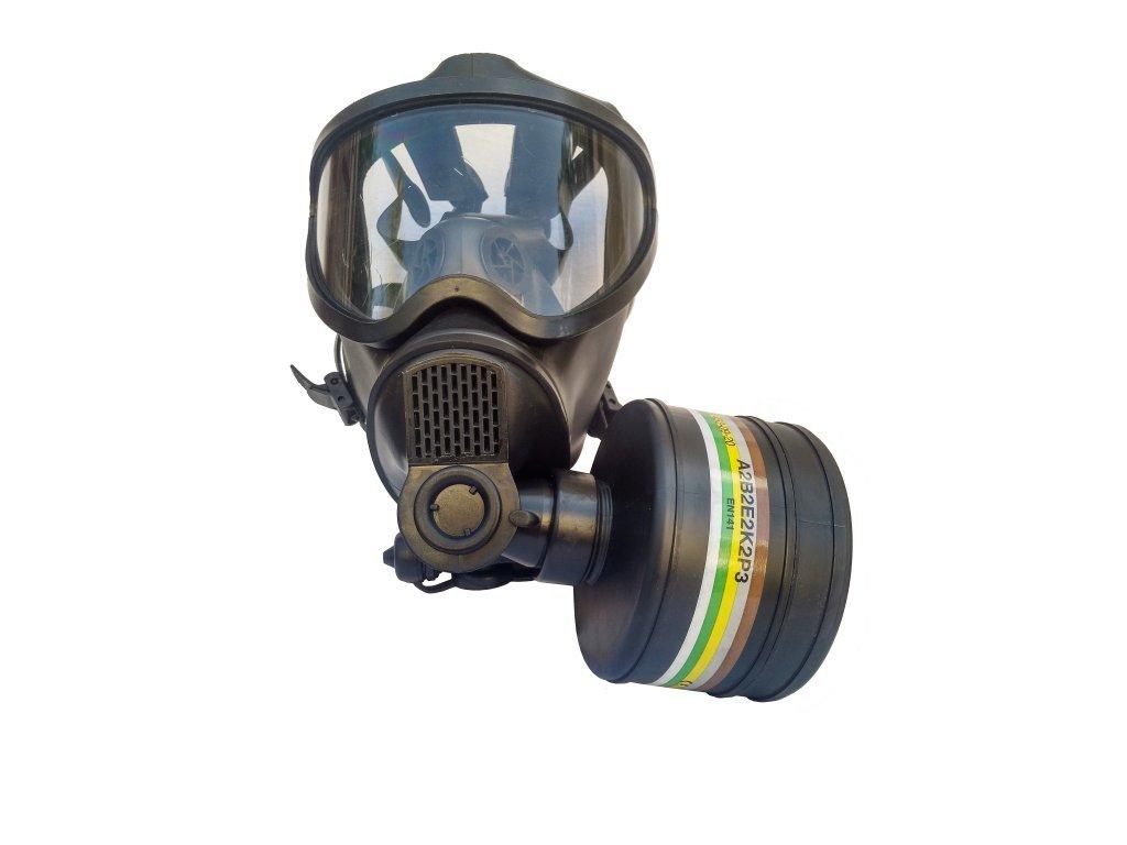 29256 plynova maska belgie bem 4 gp engicom s brasnou a filtrem