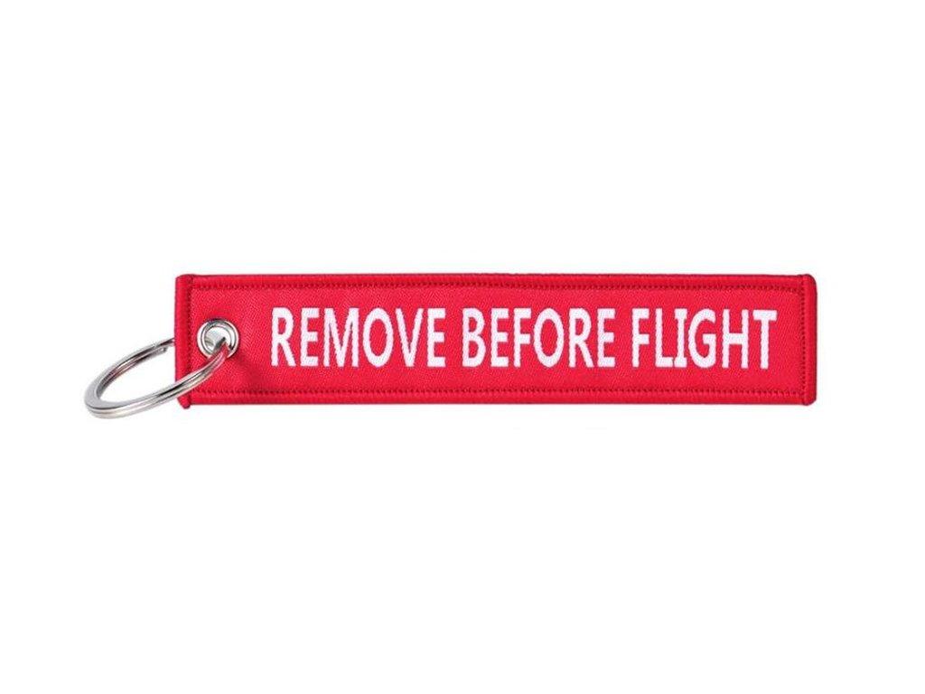 Přívěšek na klíče (letecká plomba) REMOVE BEFORE FLIGHT