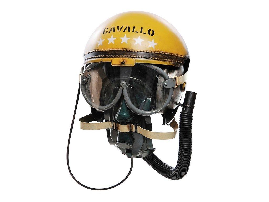 Helma letecká kovová dekorace Helmet Cavallo JLCP3766-Y Retro