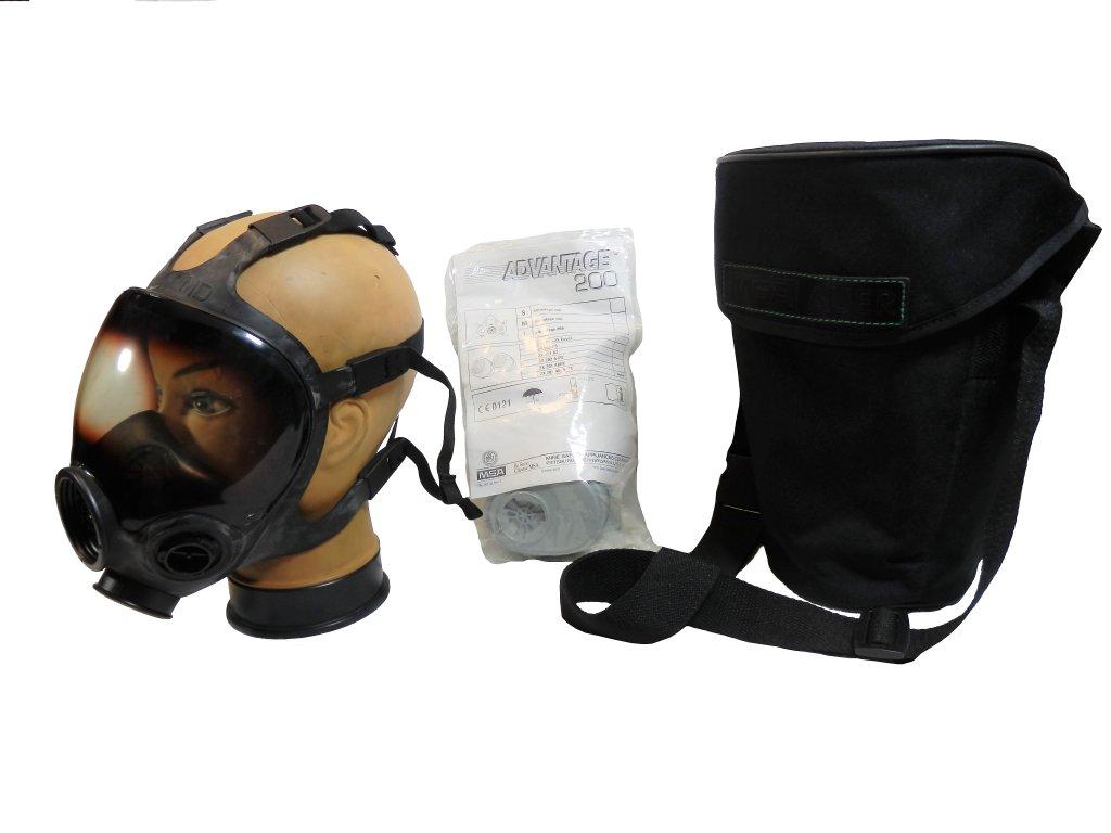 Maska plynová MSA ADVANTAGE 1000 s filtry a brašnou