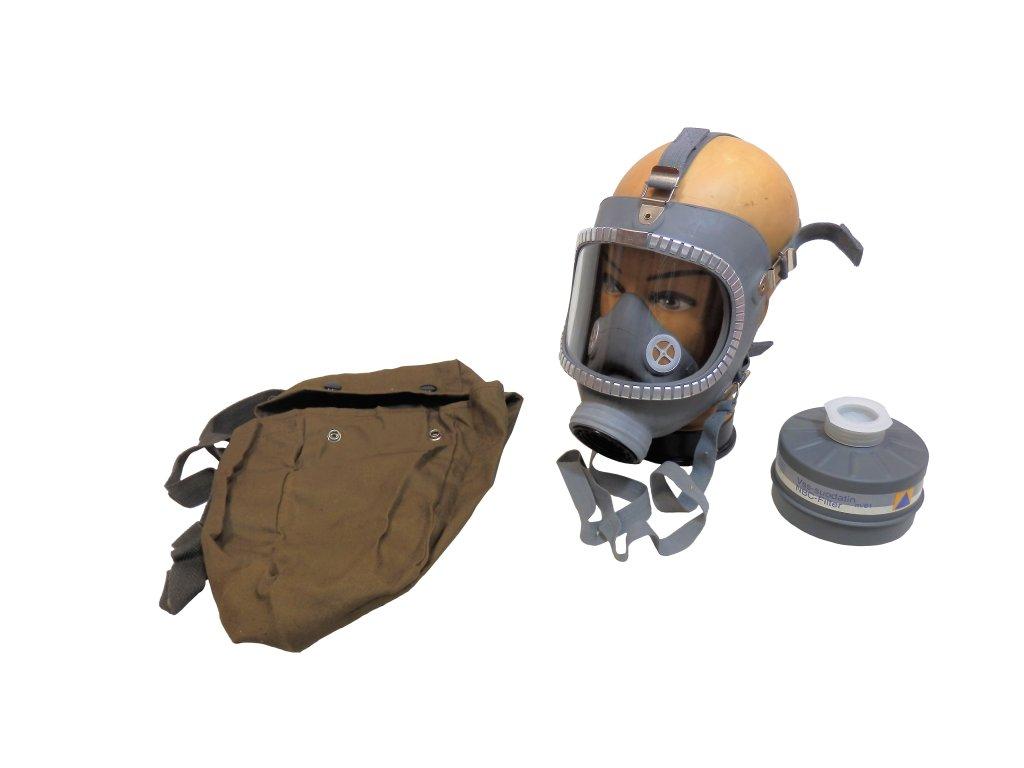 Plynová maska Skyddsmask M65 Finsko s kartonovým boxem a filtrem