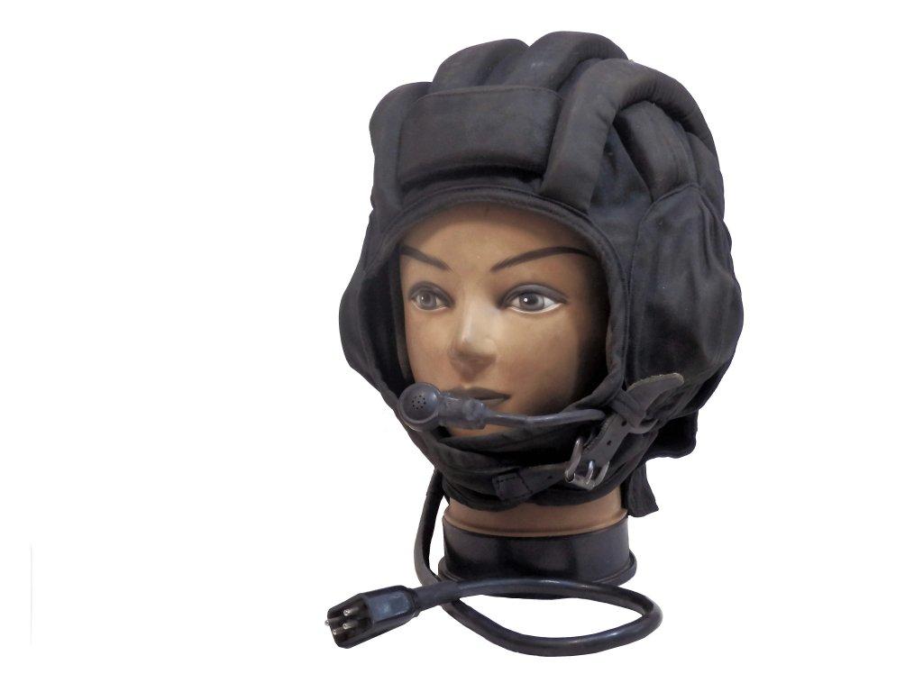Helma (kukla) tankistická letní černá s mikrofonem originál