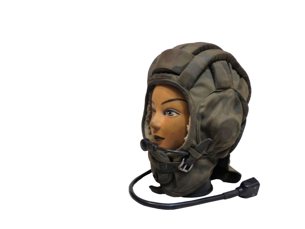 Helma (kukla) tankistická zimní maskovací wz.93 s mikrofonem originál