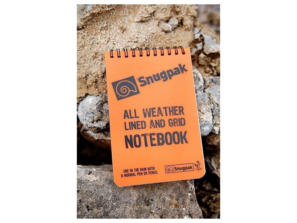 Sešit (notes,blok) voděodolný oranžový Snugpak