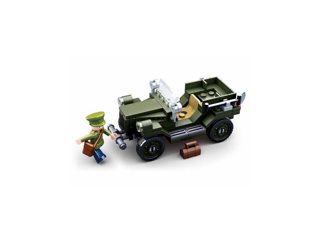 Stavebnice Sluban - armádní auto Jeep Willys WWII