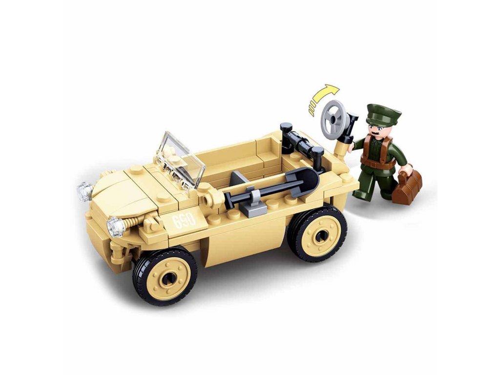 Stavebnice Sluban - německé armádní obojživelné auto WWII