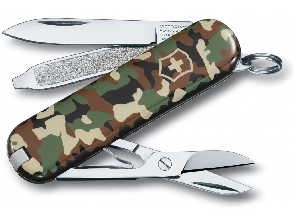 Victorinox Classic SD camo kapesní zavírací nůž multifunkční maskovací