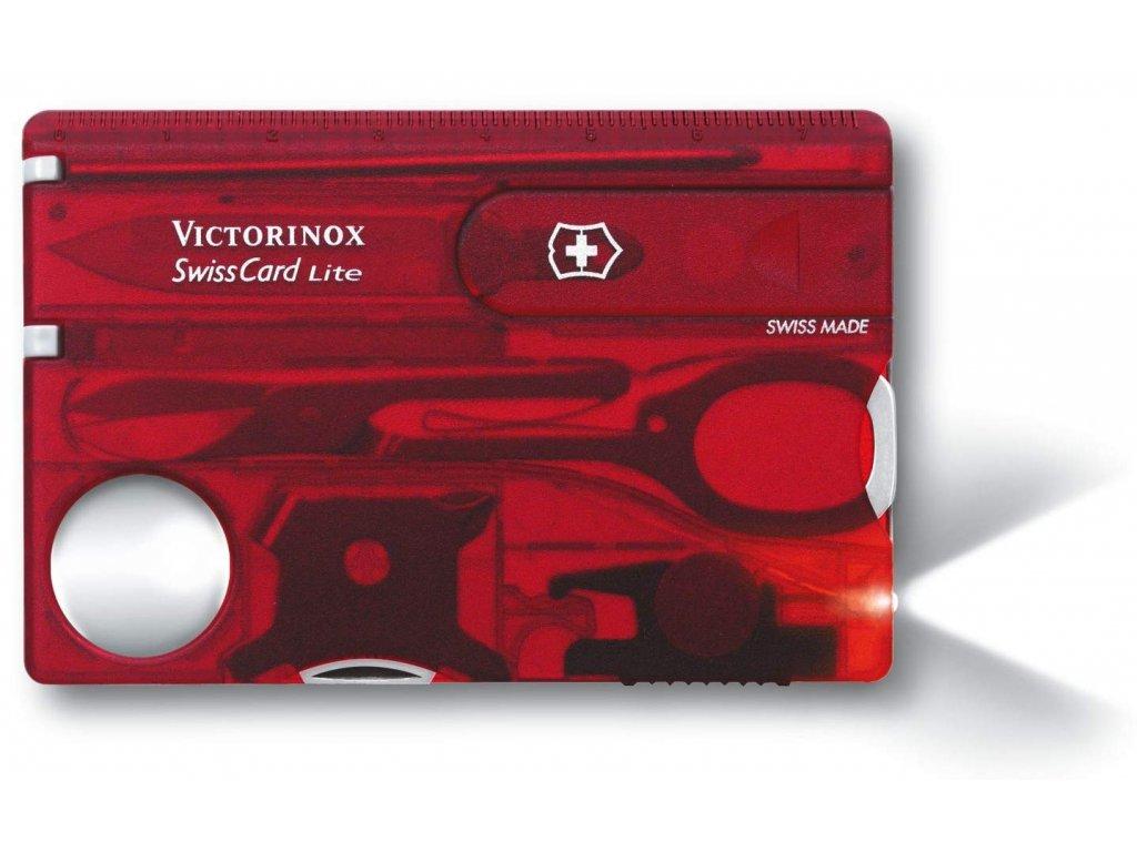 Victorinox SwissCard Lite multifunkční karta na přežití červená