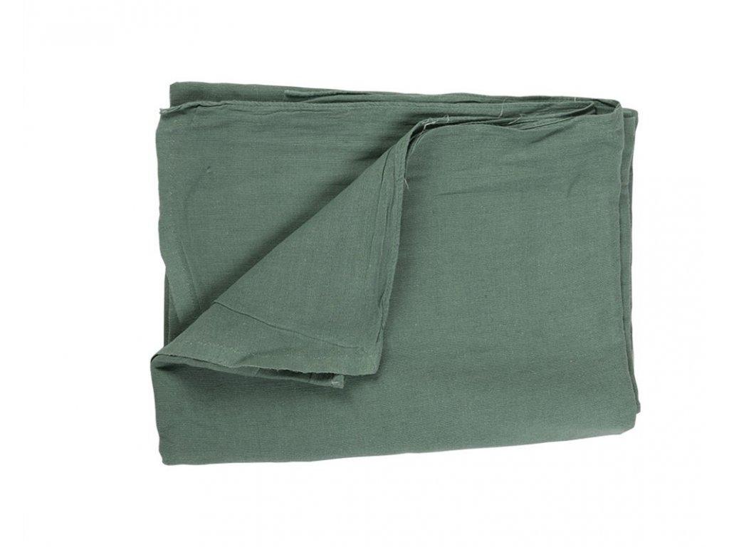 Prostěradlo vojenské ČSLA 140 x 250 zelené zánovní