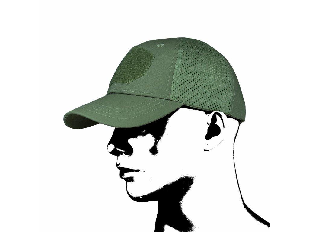 Čepice kšiltovka Baseball Tactical Mesh CMG zelená
