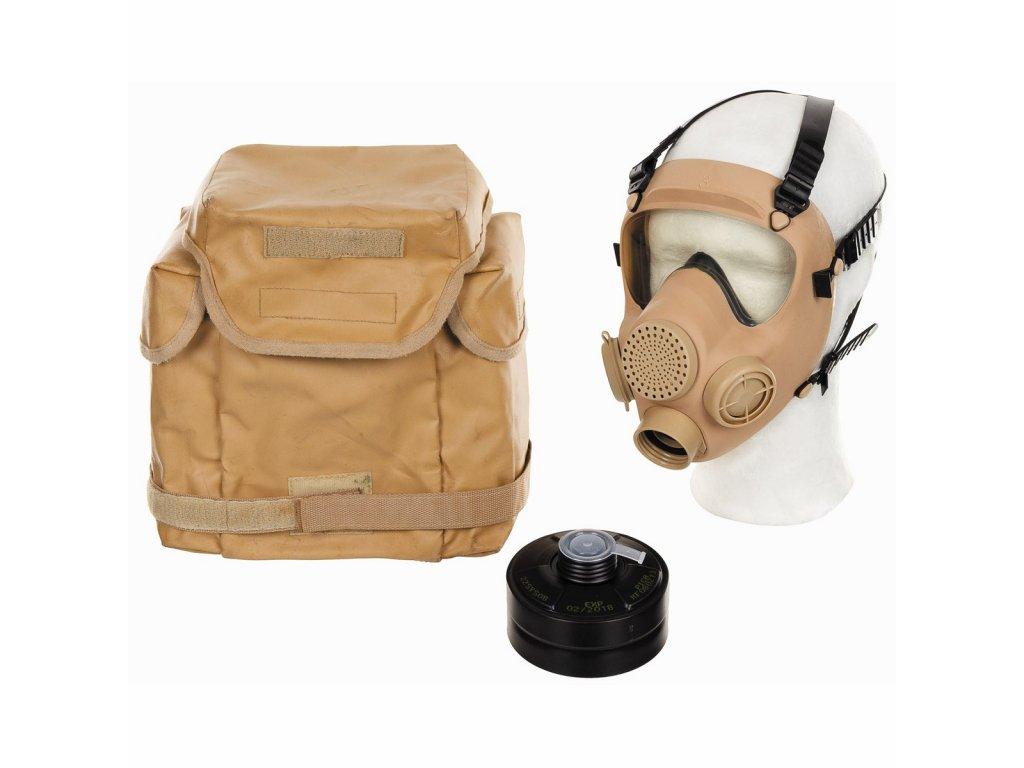 Plynová maska Francie ARF-A model  MP5 coyote TAN pouštní s hydratačním systémem originál