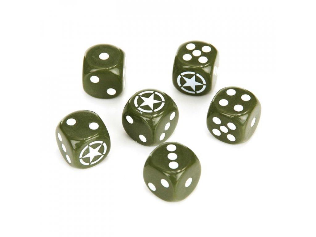 Hrací kostky ARMY sada Fosco dárková krabička