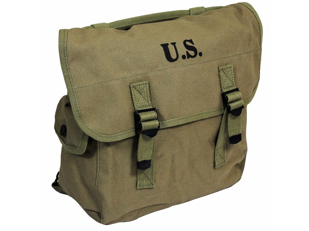 Malá polní US Musette Bag M36 Repro SEMS 1942 bavlněná khaki