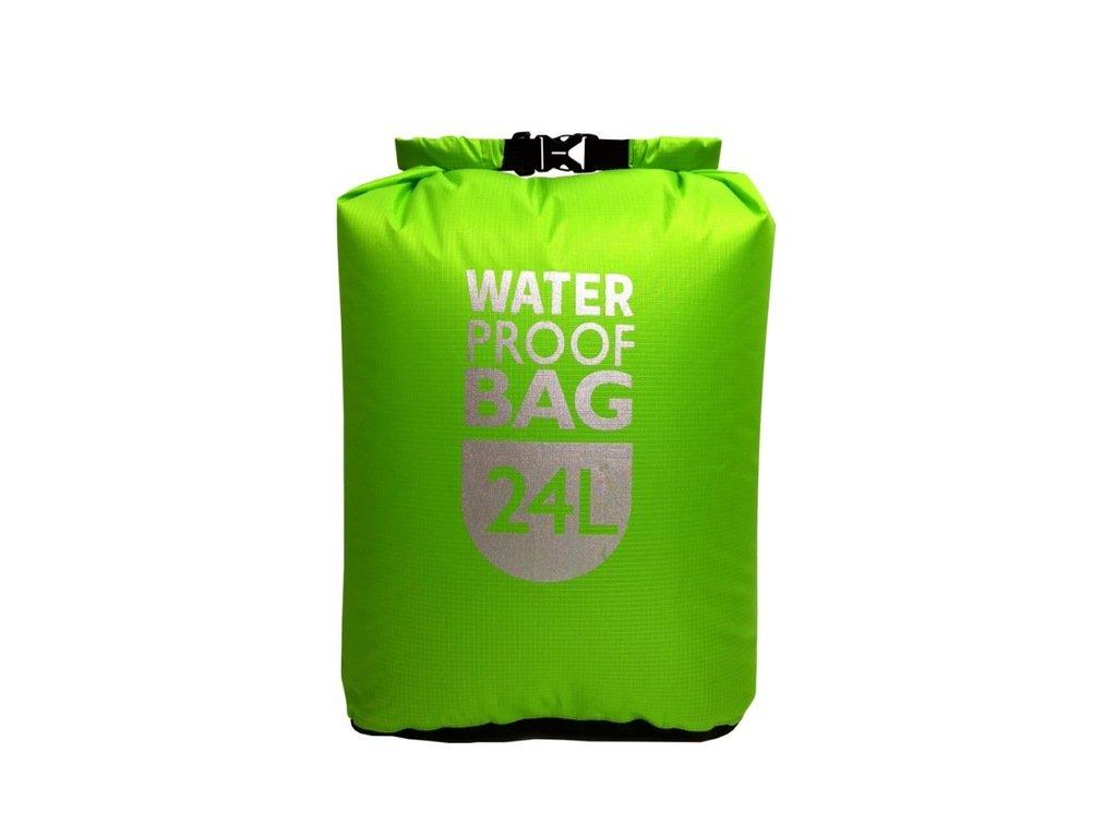 Vodotěsný vak WATER PROOF BAG 24l zelený reflexní ripstop