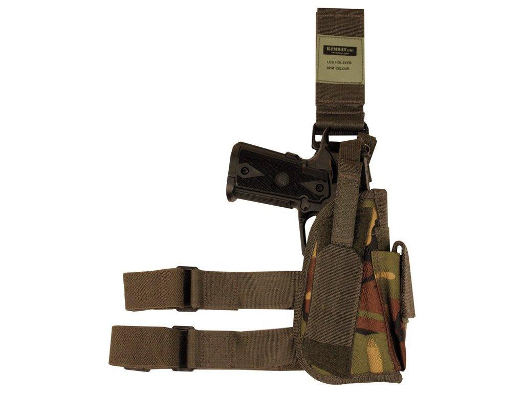 Pouzdro stehenní Tactical DPM camo pro leváky Velká Británie Kombat