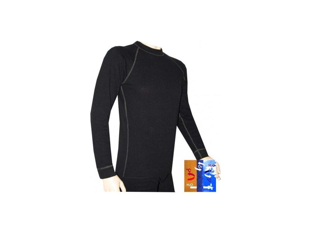 Tričko (triko) PALERID termo černé s antibakteriální úpravou