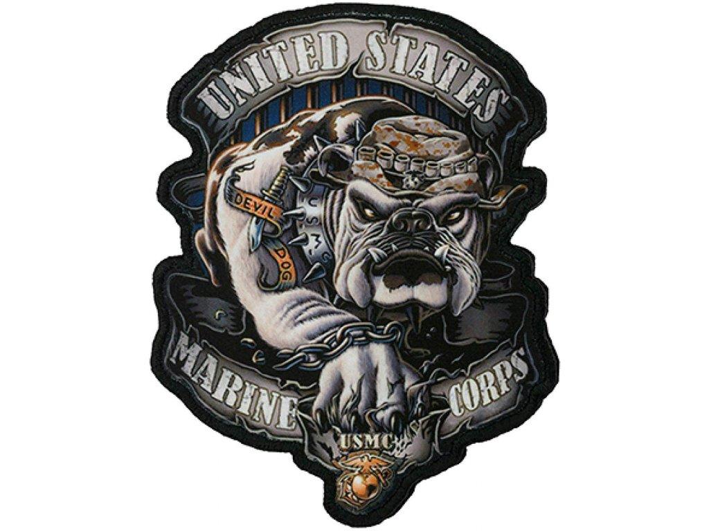 Nášivka Devil Dog USMC velcro (na suchý zip)