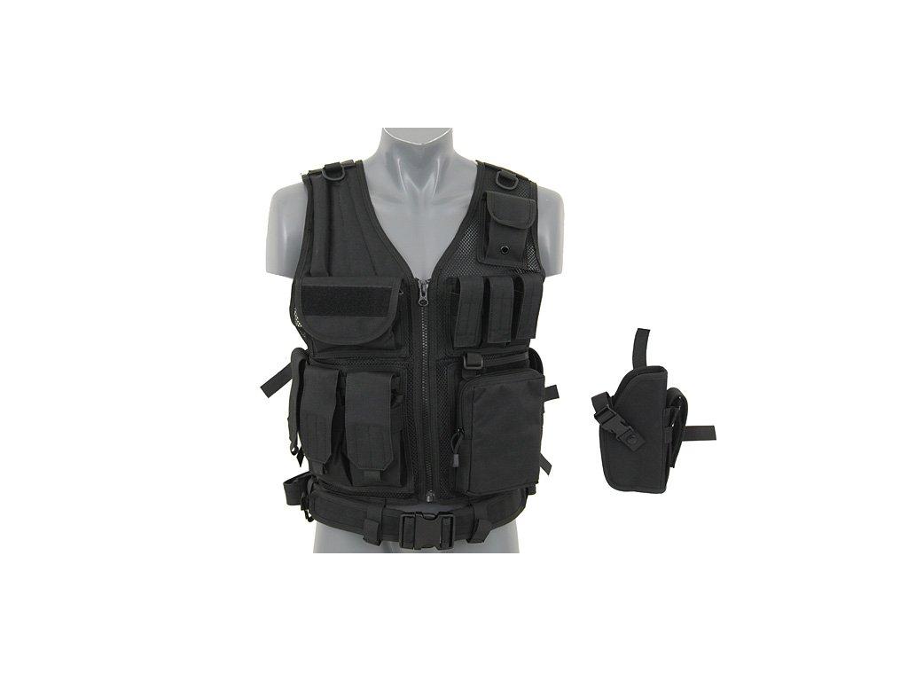 Vesta taktická Security modulární černá s opaskem 8FIELDS