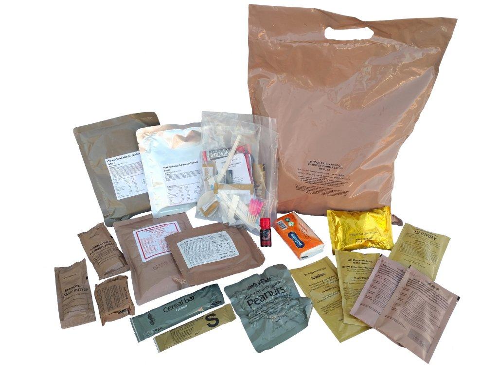 Bojová dávka potravy UK 24 Hour Ration Pack (MRE,BDP) originál Velká Británie