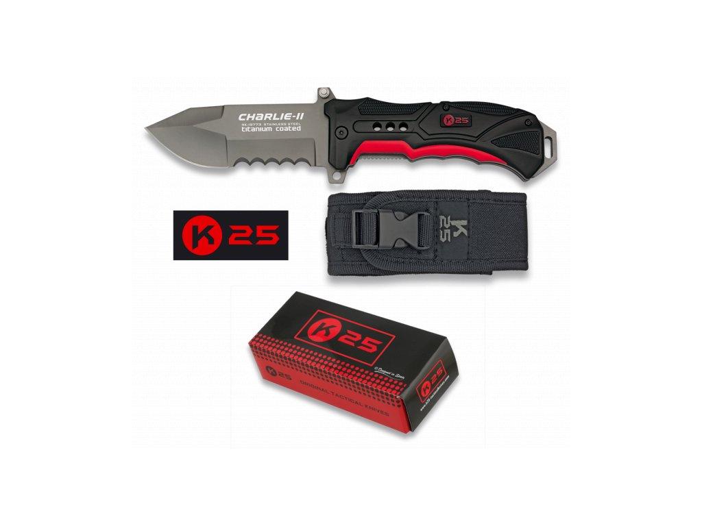 Nůž zavírací CHARLIE II Tactical Titan RUI/K25 19772