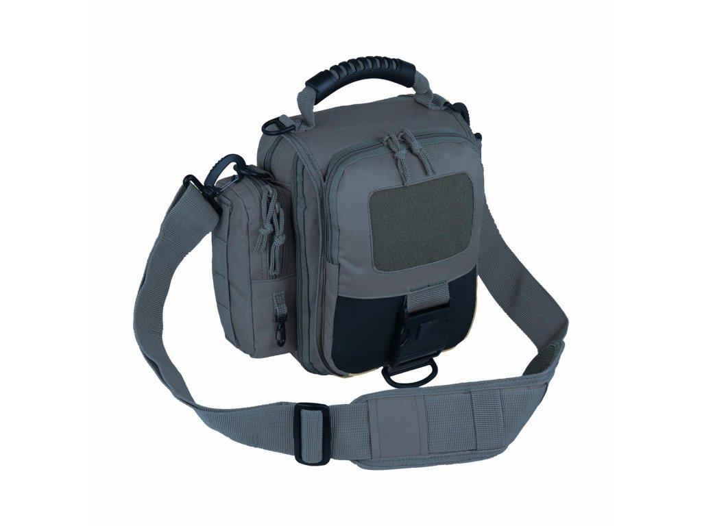 Taktická taška přes rameno INDY šedá