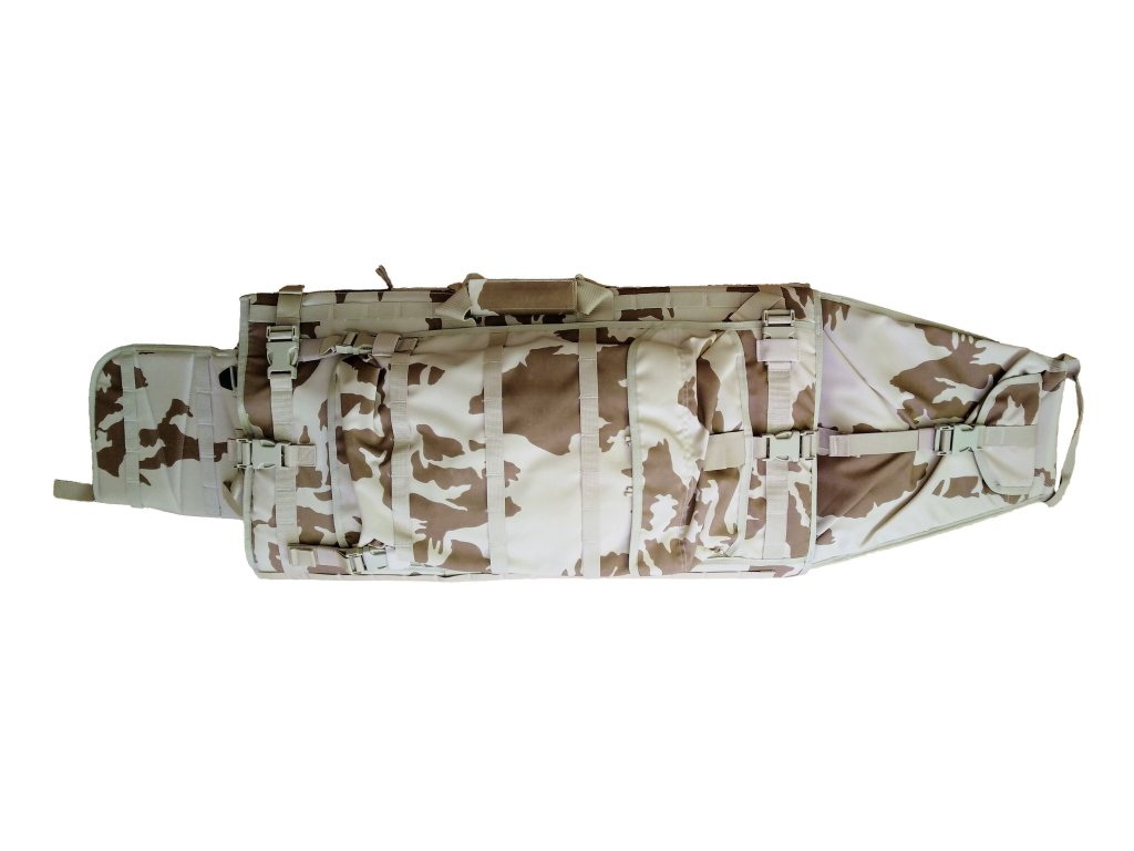 Tactický obal na odstřelovací pušku CZ 750 s rozkládací podložkou vz.95 desert pouštní AČR originál SPM