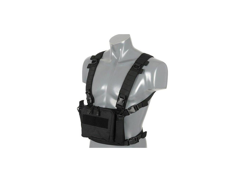 Taktický hrudní nosič Chest Rig černý 8FIELDS