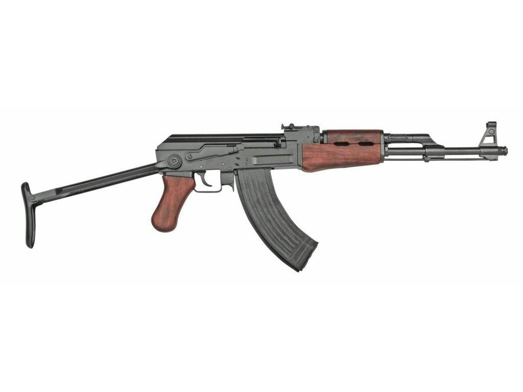 AK47 útočná puška (samopal) Rusko 1947 sklopná pažba