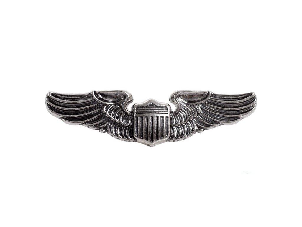 Odznak letectva pilotní křídla USA 1941 WWII stříbrný