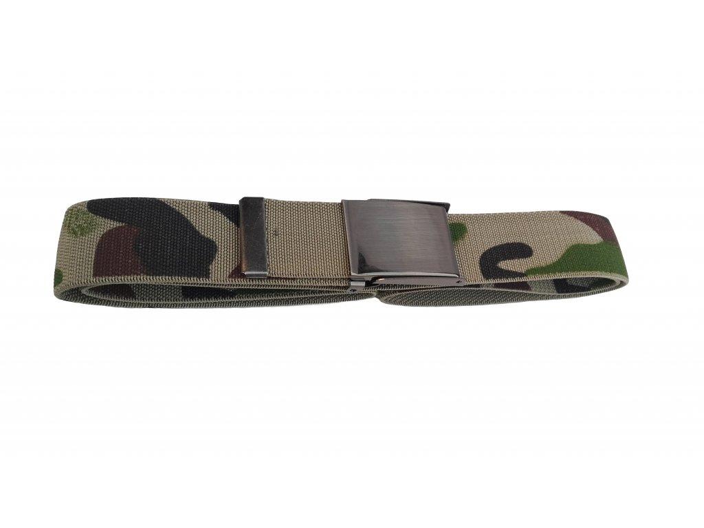 Opasek kalhotový elastický camo maskovací