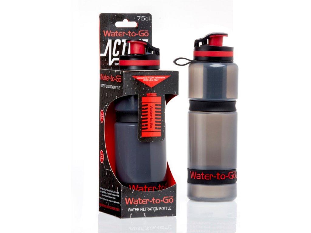 Water-to-Go filtrační láhev 75cl ACTIVE (láhev s filtrem 3v1)