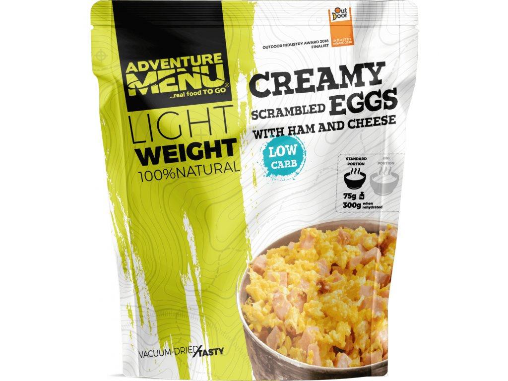 Adventure Menu Krémová míchaná vajíčka se šunkou a sýrem (hotová strava) 270g LIGHTWEIGHT