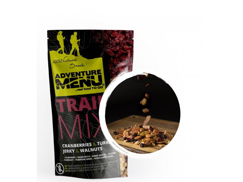 Adventure Menu Trailmix – brusinky,krůtí JERKY,vlašské ořechy 100g