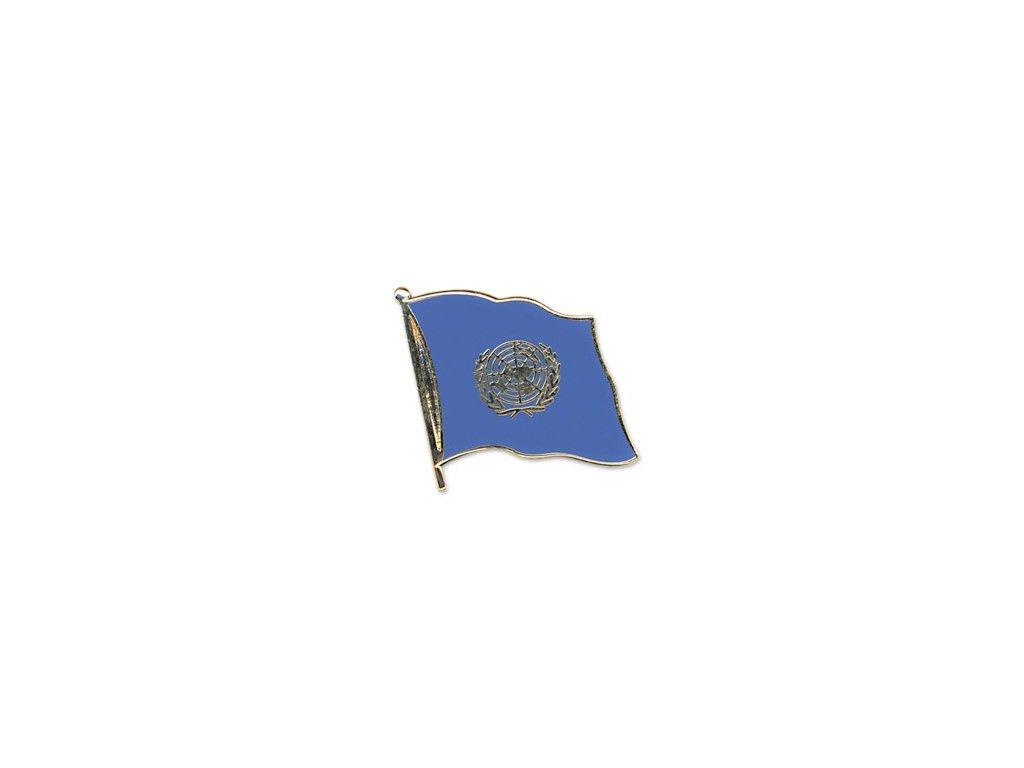 Odznak (pins)  20mm praporek OSN