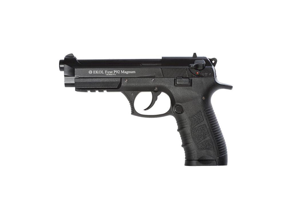 Plynová (expanzní) pistole Ekol Firat P92 Magnum černá cal.9mm