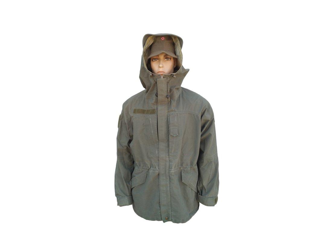 Bunda (parka) kabát HEERESEIGENTUM Rakousko oliv (ECWCS,Gore-Tex,GoreTex,laminát) originál
