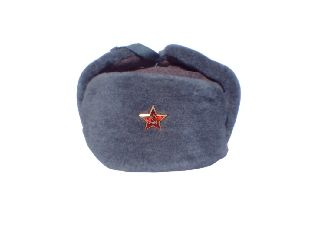 Beranice (ušanka) čepice zimní šedá SSSR