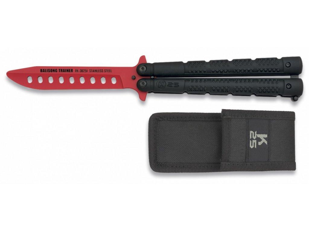 Nůž motýlek tréninkový RUI/K25 červený tréninkový 36251