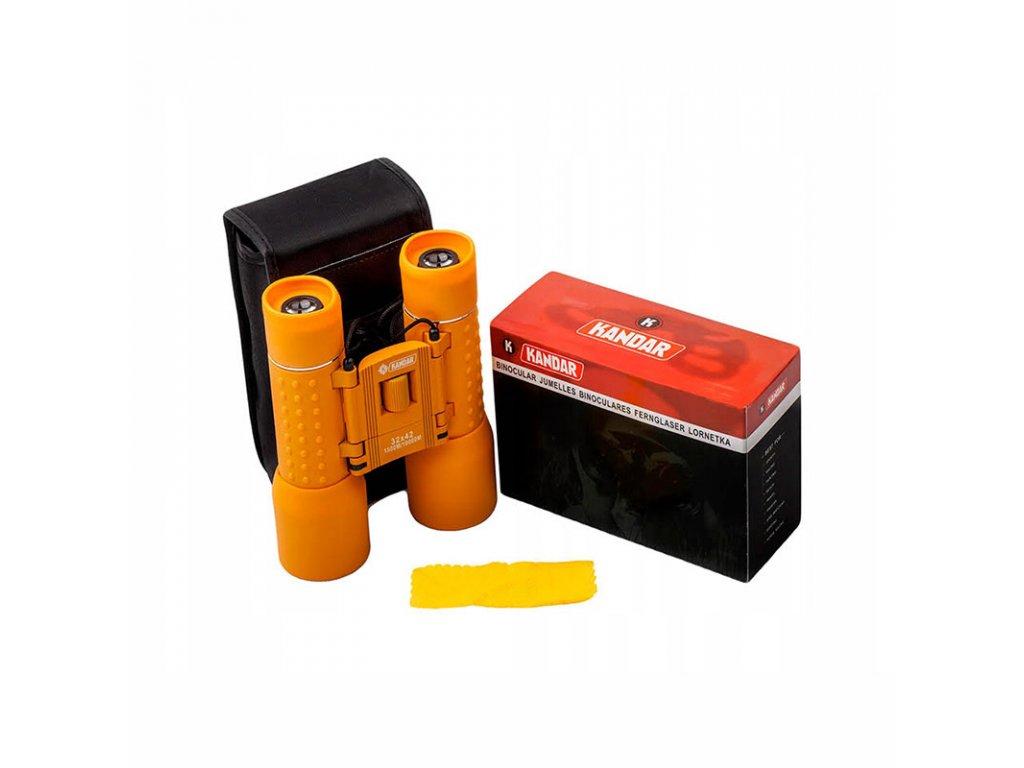 Dalekohled Kandar 32x42 Porro Prism Binoculars orange