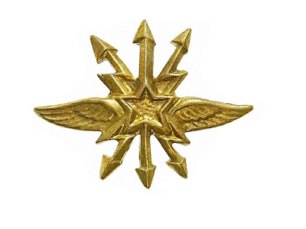 Odznak rozlišovací ČSLA spojovací vojsko zlatový originál